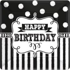Happy Birthday Lautaset 8 kpl