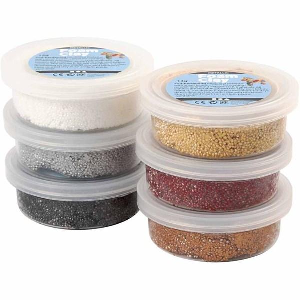 Foam Clay® , ass. farger, metallic, 6x14g