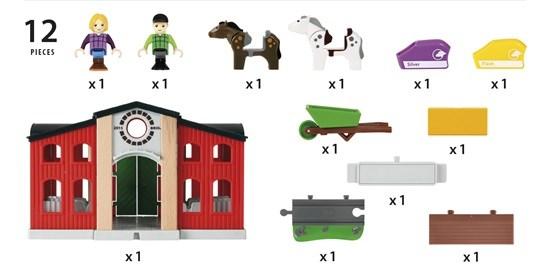 Hevostalli, Brio puujunarata  pikkuautot ja ajoneuvot  Adlibris verkkokirja
