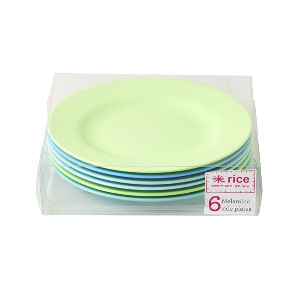 d5d9d8cd Rice Tallrikar 6-pack Blå Gröna dia 20 cm- tallerken & skåler ...