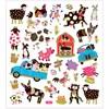 Stickers, ark 15x16,5 cm, ca. 34 stk., , fantasifulle dyr, 1ark
