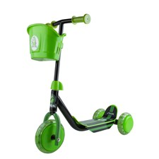 Sparkcykel, Scooter Mini Kid 3W, Black/Green, Stiga