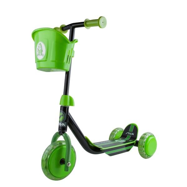 Stiga Sparkesykkel, 3-hjul, Svart/grønn