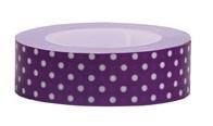 Tejp Prickar 15 mm x 10 m Violett/Vit