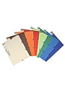 Gummibandsmapp 3-Klaffar A4 Olika Färger