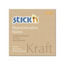 Kraftblock STICK´N 76x76, 100 blad