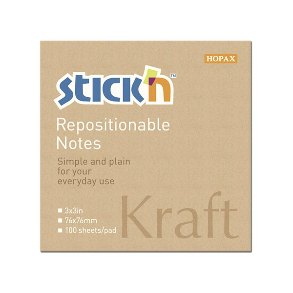 Kraftblokk STICK´N 76x76, 100 blad