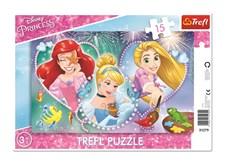 Disney Princess - Pussel, 15 bitar, Trefl