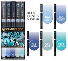 Chameleon 5-pack Pen Marker Blue Tones