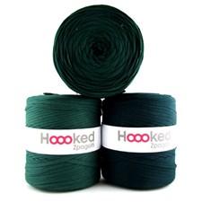 Hoooked Zpagetti Garn Återvunnen bomull ca 900g Dark green shades shades (ZP001-25)
