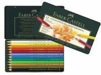 Värikynät Polychromos Faber-Castell peltirasiassa 12 kpl