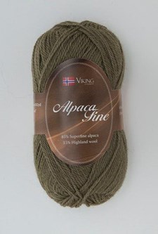 Viking of Norway Alpaca Fine Garn Alpackamix 50 g grön 630