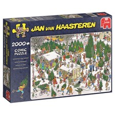 Jan van Haasteren, The Christmas tree market, Pussel 2000 bitar