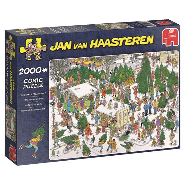 Jan van Haasteren, The Christmas tree market, Pussel 2000 bitar