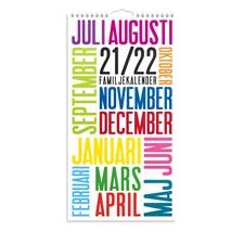 Väggkalender 21-22 Familjekalender TrendArt Burde