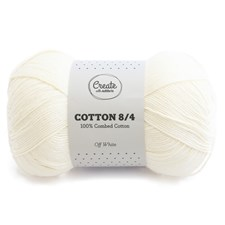 Adlibris Cotton 8/4 Garn 100g Off White A074