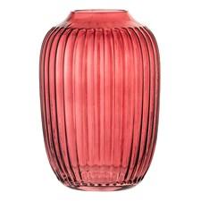 Bloomingville Vase Glass Diameter 10 cm, Høyde 14 cm Rød