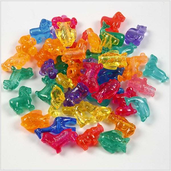Plastpärlor Figurmix 25 mm 125 ml