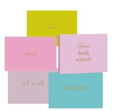 Roger la Borde Kortbox. 8 Kort med Guldpräglade Hälsningstexter. 2 Kort av Varje Motiv
