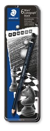 Kunstnerblyanter, STAEDTLER Mars Lumograph Black, 6-pack, Premium