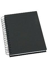 Muistikirja GRIEG Design A5 100 g viivaton musta