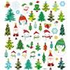 Klistermärken Glitter Julgranar och Snögubbar 1 Ark