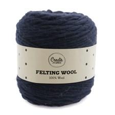Adlibris Felting Wool 100g Navy Blue A121