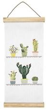 Broderi Vepa med succulenter set 20 x 40 cm