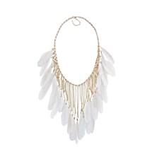 Halsband Drama Feather Necklace Grey