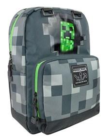 Minecraft Grå Creepy Creeper Ryggsäck