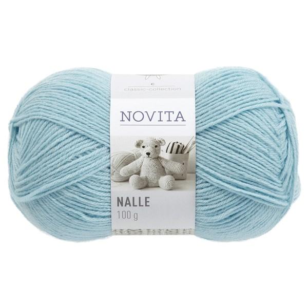 Novita Nalle Garn Ullmiks 100 g, isbre 324