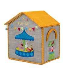 House toy Basket, Small, Ljusgrå, Rice