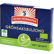 Kung Markatta Grönsaksbuljongtärningar 6 x 11 g Eko