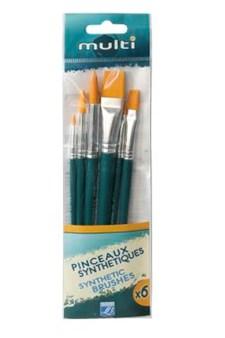 L&B Multi sett med syntetiske pensler 6-pack