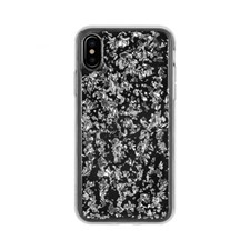 Mobildeksel, Flakes, Til iPhone X, Silver, FLAVR