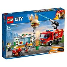 Brandkårsutryckning till hamburgerrestaurang, LEGO City (60214)