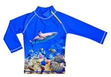 UV-tröja Korallrev, Blå, Swimpy, stl 110/116