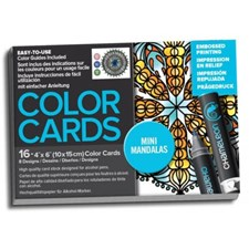 Chameleon Fargeleggingsbok Color Cards Mini Mandalas