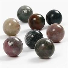 Pärlor Indisk Agat dia 12 mm Mix 33 st