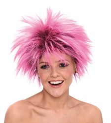 Peruukki Neon Vaaleanpunainen Punkkari