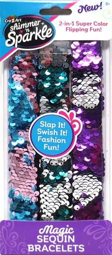 Magic Sequin Strap Bracelets, Shimmer N Sparkle