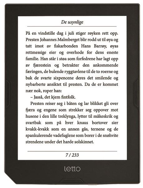 Letto Frontlight + E-bøker