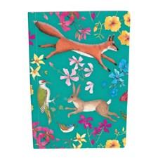 Roger la Borde A5 Muistikirja Eläimiä ja kukkia Pehmeäkantinen Viivoitettu