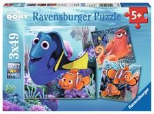 Puslespill 3x49 biter, Finn Doris, Ravensburger