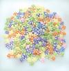 Plastperler, Pastellfargede Blomster, 500st, 11x11x6mm