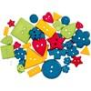 Kuvionapit, vahvat värit, halk. 8-18 mm, aukon koko 2 mm, 37 kpl/ 1 pkk