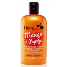 I Love... Mango & Papaya Bubble Bath & Shower Crème 500ml