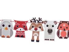 Pappersfigurer, Festive Animals, Eco, Mibo