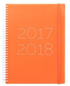 Kalender 2017-2018 Letts Gummy A5 Veckouppslag Orange