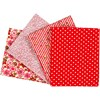 Patchworkstoff, str. 45x55 cm,  100 g/m2, rød, 4stk.